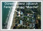 """Insel Rügen, Strandurlaub direkt (25m) am Meer in der Dünenresidenz Juliusruh, FeWo """"Muschel"""""""